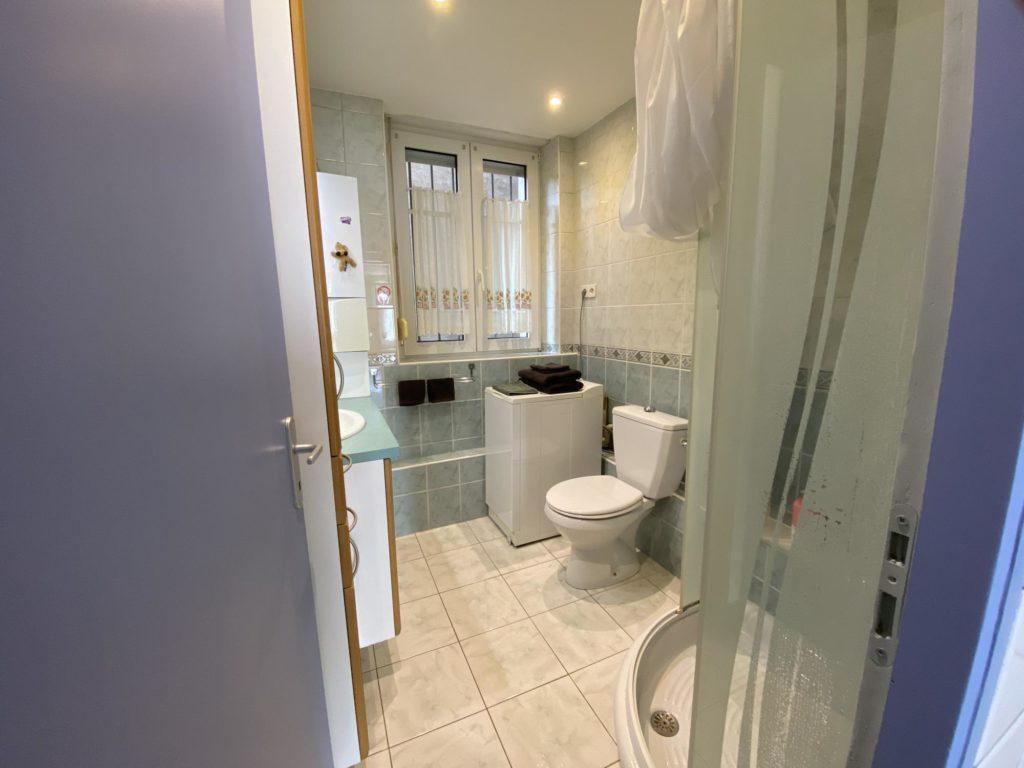 salle de bain chez Louise Appartement meuble en location Meurthe et Moselle 54530